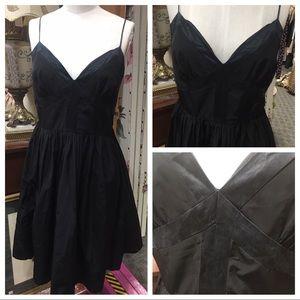 Calvin Klein black silk corset dress size 8